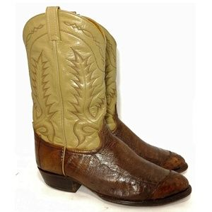 Tony Lama Quill Ostrich Western Boot 13D